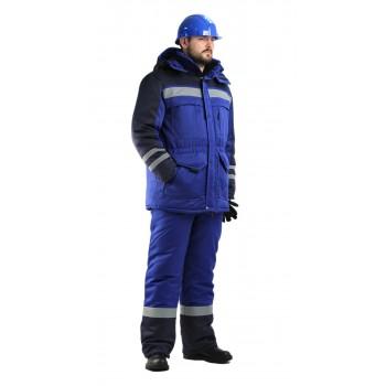 Костюм зимний  Зимник васильковый с темно-синим