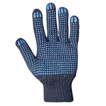 Перчатки х\б с ПВХ 5нит,10кл. черные