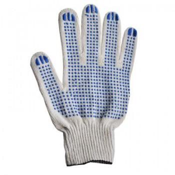 Перчатки х\б с ПВХ 5нит,10кл.