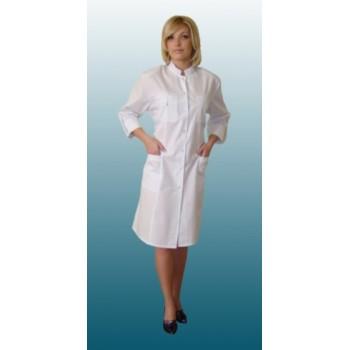 Халат медицинский  женский № 3, ТИСИ, ворот - стойка+кнопки
