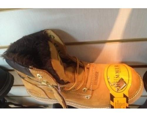 Ботинки Hammer желтые утепленные