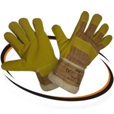 Перчатки спилковые комбинированные утепленные