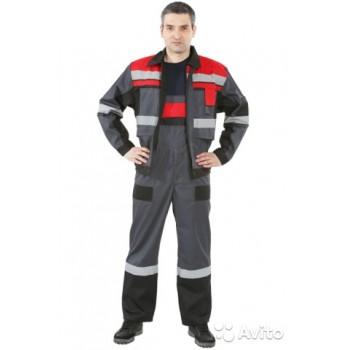 Костюм Виват , серо-чёрно-красный, куртка+БРЮКИ