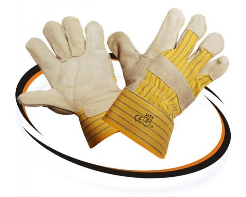 Перчатки спилковые комбинированные (TRAL)