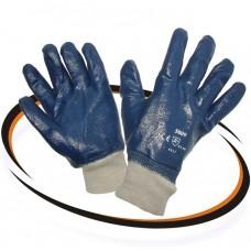 Перчатки Нитрил2 (полн.облив.,манжет резинка)