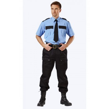 Рубашка охранника, голубая, КОРОТКИЙ рукав